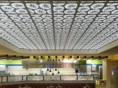 Backlit laser cut wood ceiling panels-- Lebanon Gaming and Raceway, Cincinnati OH