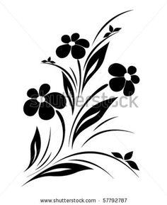 vector flower pattern on white background - stock vector