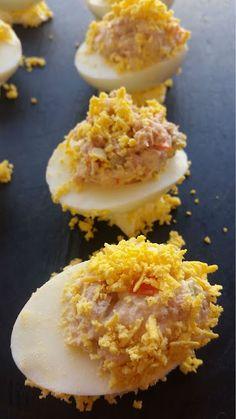 huevos rellenos de atún | Comparterecetas.com