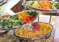 cheese and veggie tray tea party | Some fresh vegetables, and some cheese and crackers, yum!!