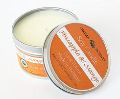 Soy Candles  Pineapple & Mango  Scented Candles  by AromaScentsLLC