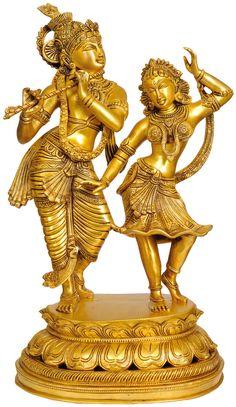 Large Size Dancing Radha-Krishna (23in, $895)