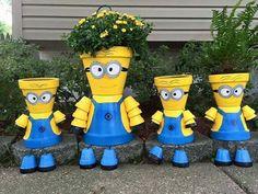 Cute Minion Pot People