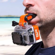No, it isn't April 1st (unless you are reading this on April 1st, in which case I assure this is a real thing). Just when you thought that we had exhausted the ways that GoPro cameras could be mounted on your person, or even a canine friend, SP Gadgets have come up with a new way. The SP Gadgets Mouth Mount is designed for 'When you need your hands free', with surfing featured prominently on their web page images. The device itself looks very well engineered. The mount looks like a…