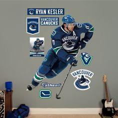 I think someone likes Ryan Kessler! Vancouver Canucks, Ryan Kesler, Hockey Games, Good Ol, Nhl, Canada, Rooms, Baseball Cards, Board
