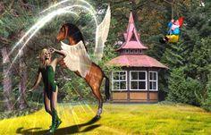 The Flying Horse in Elfland -  - Diese  Collage wurde erstellt von Gerd Schremer