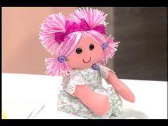 Artesanato - Boneca de tecido - YouTube