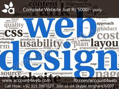Account4WEB || Web Hosting in Pakistan.: Complete Website Solution || Account4WEB