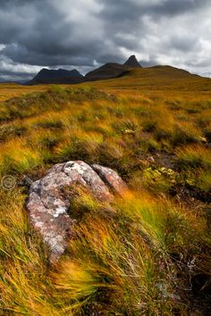 Stac Pollaidh and Cul Mor from Druim Bad a Ghaill. Coigach. North West Highlands. Scotland.