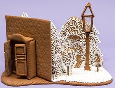The Lion, the Witch, and the Wardrobe! Christmas Goodies, Christmas Desserts, Christmas Treats, Christmas Baking, Winter Christmas, Christmas Time, Gingerbread House Designs, Gingerbread Village, Christmas Gingerbread House