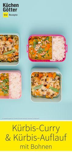 Perfektes Herbstgericht für das Mittagessen. Sweet Potato Recipes, Beans, Souffle Dish, Eat Lunch, Oven, Food Portions