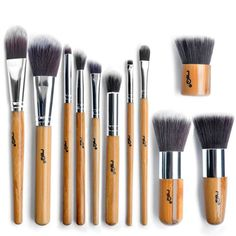 MSQ Professional Cosmetic 11piece Makeup Brushes Set with Pouch *** Click image for more details.