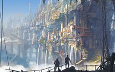 Fantastic world Fantasy Cities city