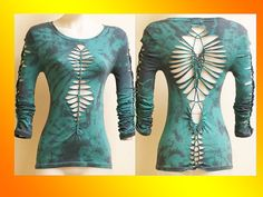 SIZE MEDIUM...ONLY 1 Made...Tie Dyed Shredded by LasciviousGrace