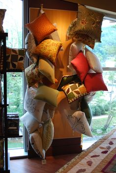 Combine this with the mounted chairs.  C & F pillow display at Harrah's Casino in Cherokee, NC