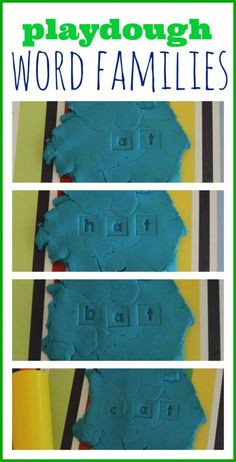 Playdough & Alphabet Stamps  from I Can Teach My Child!