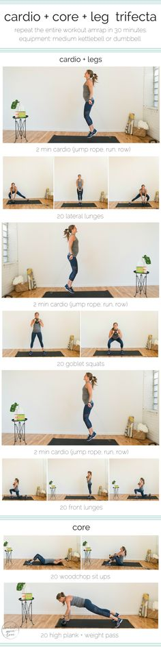 join the 5 day healthy living challenge sponsored by larabar™ + general mills bell institute of health and nutrition; and start day one strong with this cardio + core + leg trifecta workout. #ad get the full workout -à>> https://www.nourishmovelove.com/cardio-core-leg-trifecta-workout-larabar-challenge/