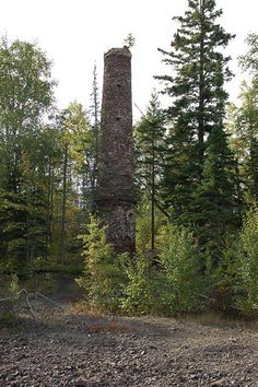 Ruins of the Clark Smelter Near Copper Harbor Michigan
