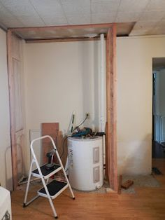 Build A Closet Around Furnace And Pipes And Use It As A Utility Closet. We
