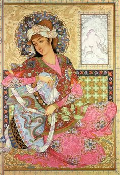 Sense of realism in Flat Space Lady--Persian art