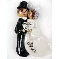 Bride and Groom in Top HatMade of Bread Dough