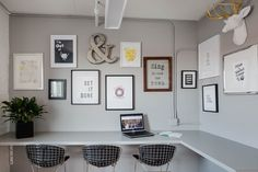 The Lounge with standing desks at Norbella - Boston Headquarters