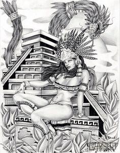 Aztec Lowrider Arte Drawing