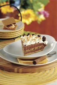 This would be a great dessert for after everyone is burnt out on pumpkin and pecan pie! S'mores Ice Cream Pie #luckysupermarkets #holidaypinspirations
