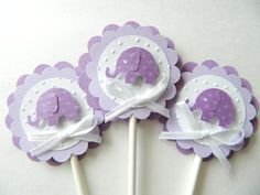12 Elephant Cupcake Toppers Baby Shower Cupcake by 2muchpaper