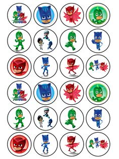 I could make a matching game with PJ masks and their initial letters! Children would have to recognize the letter for each hero and then find the hero! Pj Masks Cupcake Toppers, Pj Mask Cupcakes, 5th Birthday Party Ideas, 3rd Birthday, Party Themes, Pj Masks Printable, Pjmask Party, Festa Pj Masks, Pj Masks Party Favors