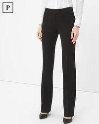 Petite Seasonless Bootcut Black Pants #whbm