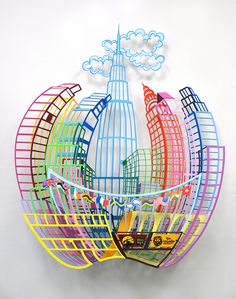 """Big Apple"" is a limited edition, 3 layer, laser cut metal wall sculpture, 35.4""×29.5"" (inches) 