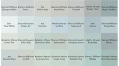 The search for the perfect blue-gray-green paint colors for the bedroom and kitchen continues! More options to test. I'm liking Ben Moore's Palladian Blue for the kitchen and maybe...SW Rainwashed for the master. Any advice?