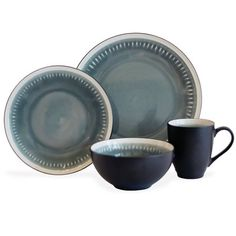 Baum Reactive Lines 16 Piece Dinnerware Set & Reviews | Wayfair