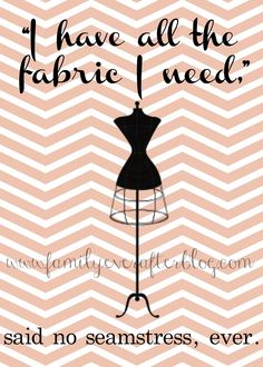 Family Ever After....: Free Sewing Printable: ALL THE FABRIC I NEED
