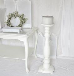 •♡•  Großer Kerzenständer mit Kerze  •♡• von Weidenröschen auf DaWanda.com