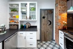 """HGTV's """"Kitchen Cousins"""" John Colaneri and Anthony Carrino head to Lafayatte in their home state of New Jersey to update a 100-year-old farmhouse kitchen, creating a stunning design that combines both modern and rustic elements."""