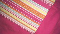 Liz Claiborne Twin Pink Striped Duvet All Cotton #LizClaiborne