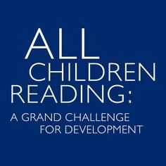 World Vision joins All Children Reading to support children's literacy around the world