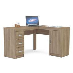 Mesa Para Computador em L Mirante Castanho Politorno Móveis
