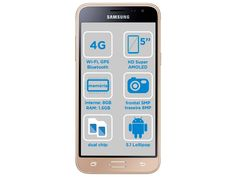 "Smartphone Samsung J3 2016 8GB Dourado Dual Chip 4G Câm. 8MP + Selfie 5MP Tela 5"" HD Proc Quad Core - Samsung Galaxy J3 - Magazine Luiza"
