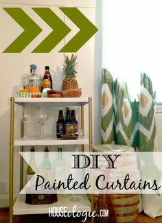 Painted Curtains - Ikea Hack