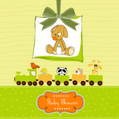 Cute Baby vector backgrounds set 01 - Vector Background free download