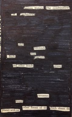 Teaching blackout poetry - 8th grade poetry block. If I ever for some reason teach upper grades I will do this.