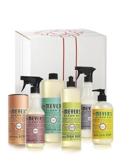Variety Gift Set - contains a selection of our best household cleaners, all boxed up and ready to give, $26.99 | Mrs. Meyer's Clean Day