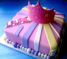 LITTLE GIRL BIRTHDAY CAKES IMAGES | 1st birthday cake a cake made for a little girl s 1st birthday ...