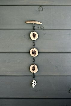 Ferns - Wall Decor - Mobile - Woodburning by TwigandBlossoms  $28   #agteam #wall decor