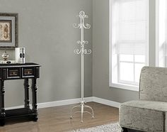 Monarch Specialties I 2027 Antique White Metal Coat Rack, Entryway Furniture, Accent Furniture, Furniture Decor, Living Room Furniture, Halle, Vintage Coat Rack, Standing Coat Rack, Parasol, Home Decor Outlet