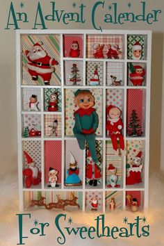 Vintage advent calender from Decor To Adore.