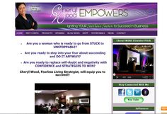 website created for Cheryl Wood of Cheryl Wood Empowers. Create Website, Cheryl, Wood, Woodwind Instrument, Timber Wood, Trees